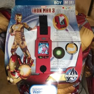 Boys Iron Man costume M(8) NWT